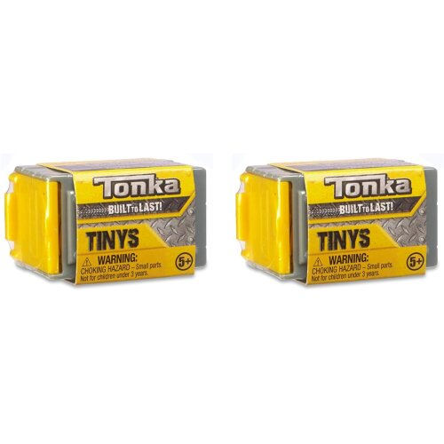 Tonka Tinys Rolling Tiny Real Tough Vehicles with Stackable Garage Blind Box 2 Pack