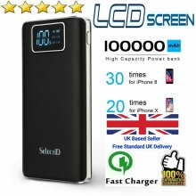 Power Bank powerbank 1000000mAh 2 USB Fast Charging External Battery Pack Portable Charger Ship from UK