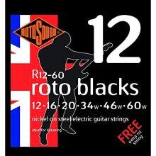 Rotosound R12-60 Roto Black Electric Guitar Set