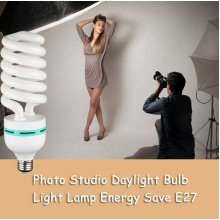 150W 5500K Pure White Fluorescent Daylight Balanced Light Bulb for Photography Lighting