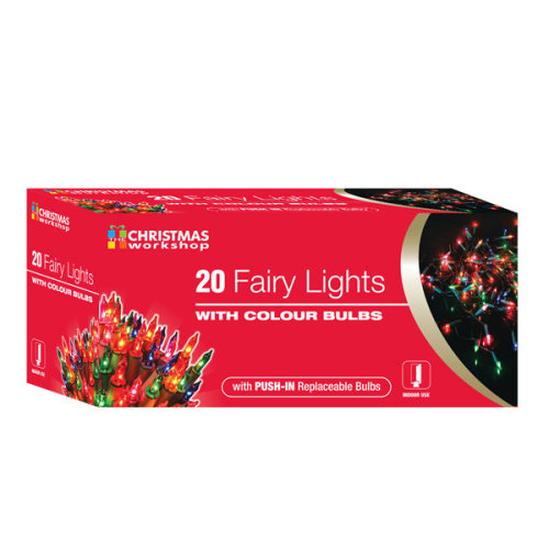 Christmas Workshop 20 Shadeless Colour Fairy Lights Box - Decoration Xmas Party -  fairy lights colour christmas decoration xmas party multi tree 20