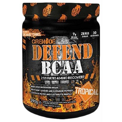 Grenade Defend BCAA Supplement, Tropical, 390 g