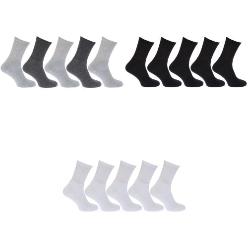 Mens Cotton Rich Sports Socks (Pack Of 5)