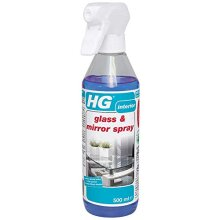 HG Glass & Mirror Spray 500 ml-Streak-Free Cleaner-Removes Grease and Dirt from Glass and Mirrors Quickly