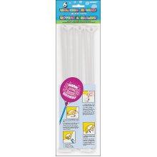 """Balloon Sticks & Cups 12"""" 6/Pkg-"""