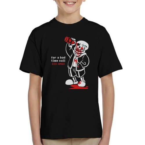 Undertale For A Bad Time Sans Kid's T-Shirt