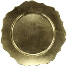 Christmas Gold Charger Plates Antique Style Under Plates Place Set Of 4