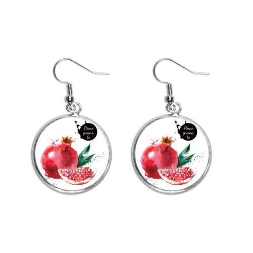 Pineapple Fruit Tasty Healthy Watercolor Ear Dangle Silver Drop Earring Jewelry Woman