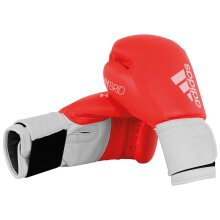 adidas 100 Hybrid Boxing MMA Training Sparring Bag Gloves Red