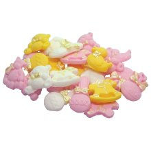 24 Edible Assorted Items Baby Shower Cupcake Cake Decorations
