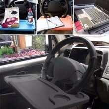 Car Steering Wheel Table Tray Laptop Food Reading Writing Stand Work Holder