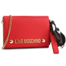 Moschino- Women's Scarf Tie Clutch Bag - Red