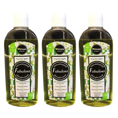 Fabulosa Fizzy Sour Apples Disinfectant Concentrated 220 ml Vegan