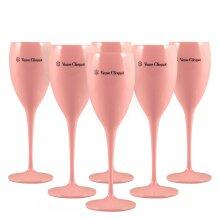 Veuve Clicquot Pink Champagne Glasses - Set of 6