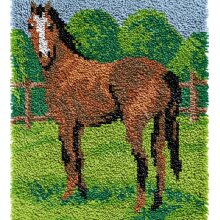 Horse Rug Latch Hooking Kit (48x64cm blank canvas)