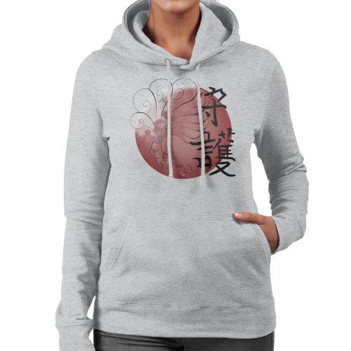 (Medium, Heather Grey) Pokemon Vulpix Nintales Protector Women's Hooded Sweatshirt