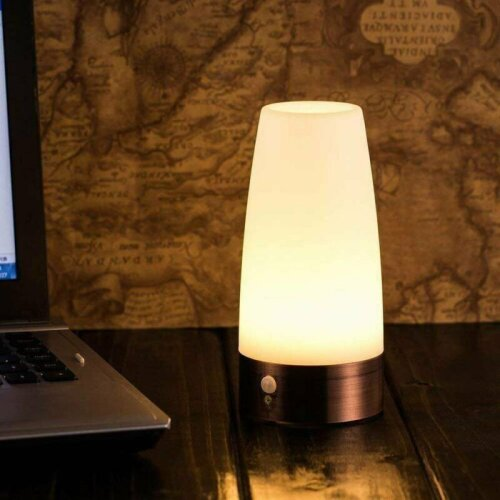 Wireless PIR Motion Sensor LED Night Light Battery Powered Table Desk Lamp Gift