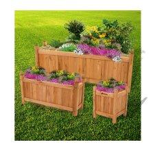 Stylish wooden planters