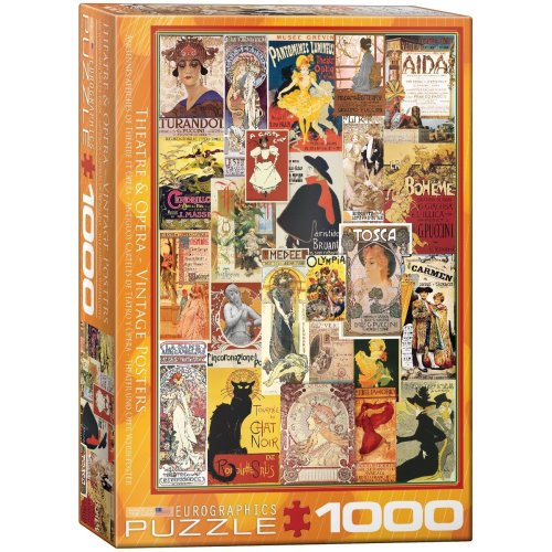 "Eurographics 6000-0935 ""Opera Theatre Vintage Collage Puzzle (1000-Piece)"