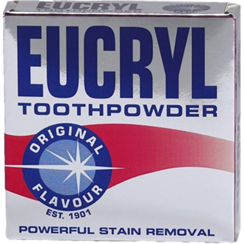 Eucryl Toothpowder Original Flavour 50g Powerful Stain Removal Powder