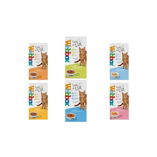 Webbox Lick e Lix 5pcs (5x15g) (Bulk Deal Case of 17) Variety Assorted Pack