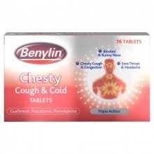 Benylin Chesty Cough & Cold 16 Tablets Triple Action