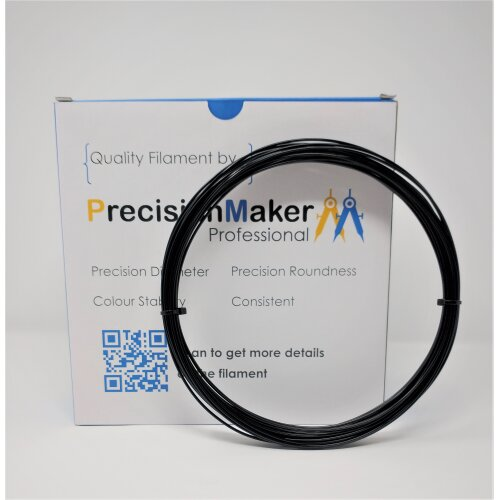 (60g (20m)) 3D Printer Filament PLA 1.75mm - Black - UK Stock