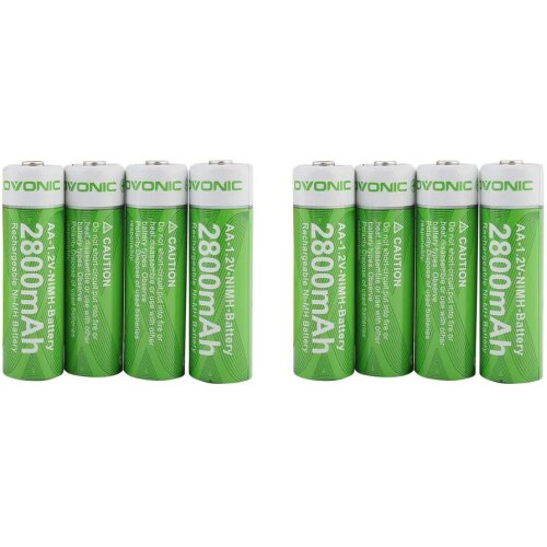 Ovonic 8Packs AA 2800mAh NIMH Battery