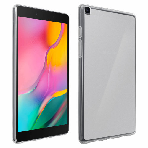 Galaxy Tab A 8.0 2019 Transparent Silicone Gel Case - Frosted White