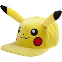 Pokemon Pikachu Plush with Ears Snapback Baseball Cap