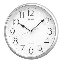 Seiko QXA001S Quartz Wall Clock with Arabic Numerals - Silver