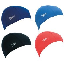 Speedo Junior Adult Polyester Swimming Cap - 6 To 14 Years - Various Colours New (UK2020)
