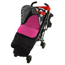Footmuff / Cosy Toes Compatible with OBaby Tiny Tatty Teddy Pushchair Pink Rose