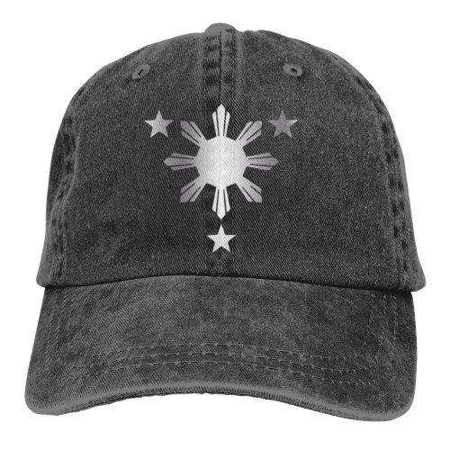 Philippines Flag Platinum Denim Baseball Caps