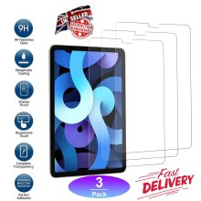 (3 Pack) Ultra Clear 9H Anti Shatter Anti Fingerprint Scratch Resistant HD Tempered Glass Screen Protector for Apple iPad Air 4 (4th Generation 2020)