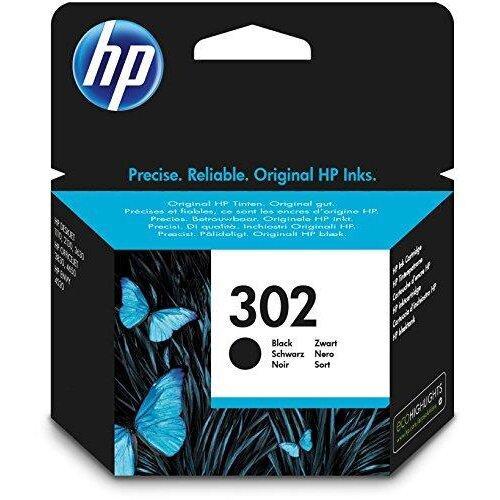 HP F6U66AE 302 Original Ink Cartridge, Black, Single Pack