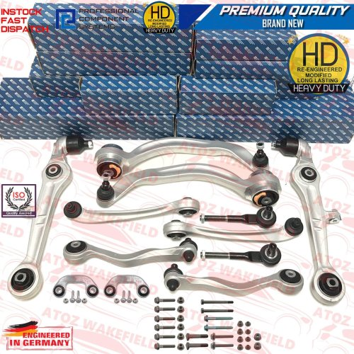 For Audi A6 2.4 C6 Front suspension wishbones arms links track rod ends kit