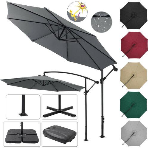 3M Cantilever Garden Umbrella Outdoor Parasol