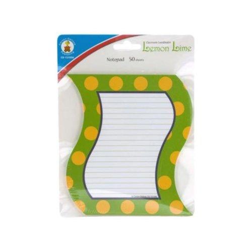 Kole Imports OP829-72 6.25 x 5.5 in. Lemon Lime Notepad, Pack of 72