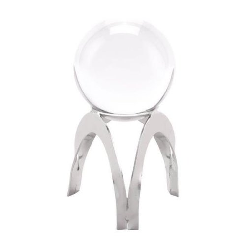 Home Roots Decor 295942 7.3 x 3.9 x 3.9 in. Stainless Steel Orb Small - Silver