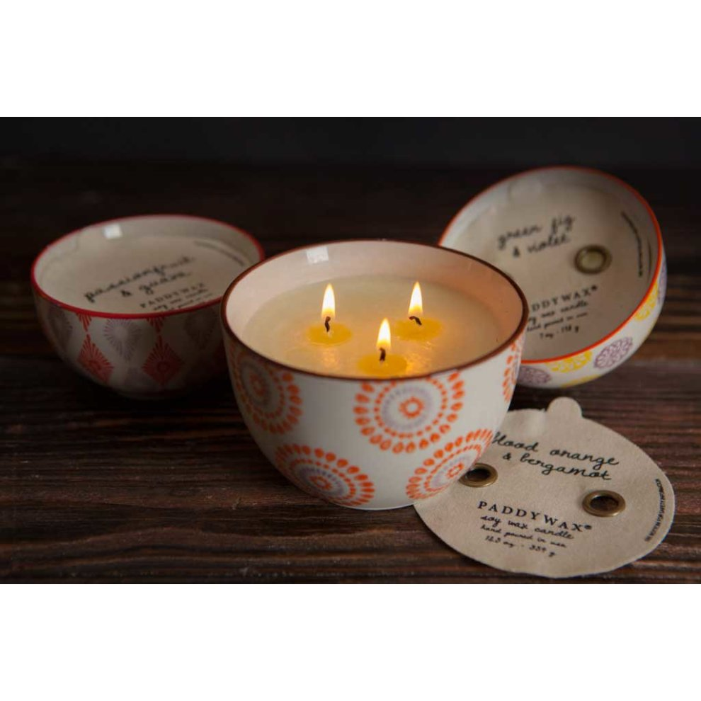 Paddywax Boheme 12oz Large 3 Wick Scented Soy Candle Black