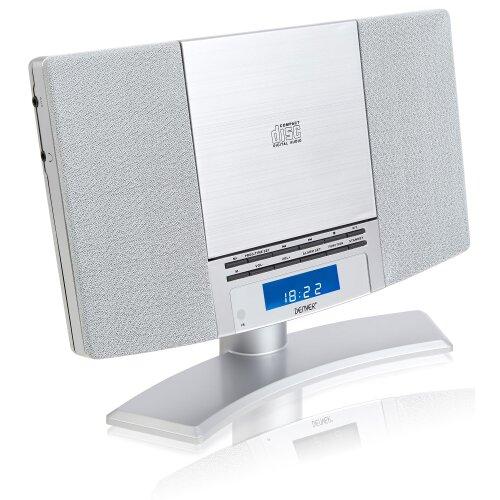 (Silver) Denver MC-5220 MK2 CD Player Stereo - FM, Clock Alarm & Remote