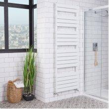 Juva 1800 x 600mm White Flat Panel Heated Towel Rail