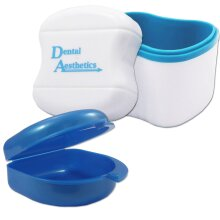 Dental Bath and Retainer Case ~ Storage Case and Container for Soaking Ortho Retainers, Sports Dental Appliances, Dentures & More