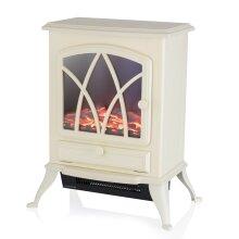 Warmlite WL46018C Stirling 2KW LED Log Effect Fire Stove, Cream