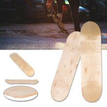8in 8-Layer Maple Blank Double Concave Skateboards Natural Skate Board