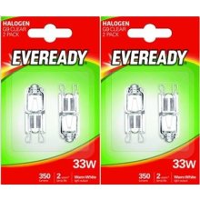 4 x Eveready Eco Halogen 33W (40W Equivalent) Cap Capsule Light Bulb G9 [Energy Class C]