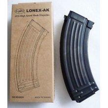 Airsoft Ak Metal Black Lonex Flash Magazine Mag 520Rds Asg Ak47 Pull Cord