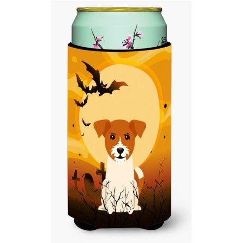 Halloween Jack Russell Terrier Tall Boy Beverage Insulator Hugger