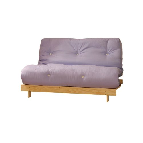 (Lilac, Small Double) Comfy Living Albury Futon Sofa Bed